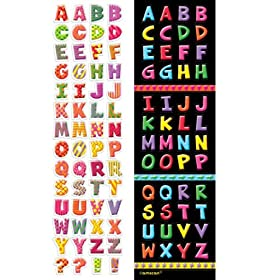 Alphabet Fun Sticker Strips