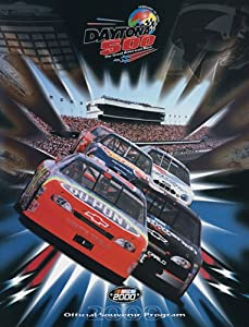 NASCAR Canvas 36 x 48 Daytona 500 Program Print Race Year: 42nd Annual - 2000 by Mounted Memories