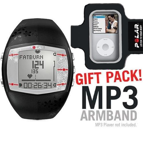 Cheap Polar FT40 Heart Rate Monitor Female Black with MP3 Armband (B003KIY8YI)
