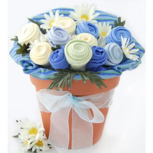 Nikki's Baby Blossom Clothing Bouquet Gift- Boy