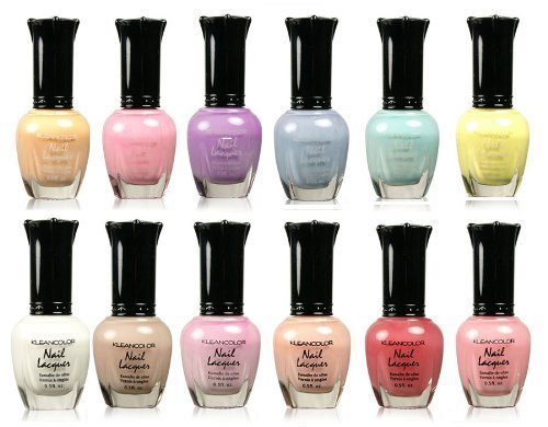 Kleancolor-Collection-Beautiful-Assorted-Pastel-Nail-Polish-12pc-Set