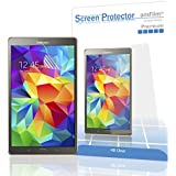 Galaxy Tab S 8.4 Transparent Screen Protector, amFilm Invisible Screen Protector for Samsung Galaxy Tab S 8.4-inch Premium HD Clear (2-Pack) [Lifetime Warranty]