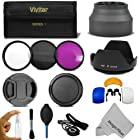 67MM Professional Accessory Kit for DSLR Cameras, CANON (18-135mm EF-S IS STM, EF 70-200mm f/4L), NIKON (18-105mm f/3.5-5.6 AF-S DX VR ED Nikkor, 70-300mm f/4.5-5.6G) Lenses - Includes: Vivitar Filter Kit (UV, CPL, FLD) + Carry Case + Lens Hood (Tulip and Collapsible) + Flash Diffuser Set + Lens Cap (Center Pinch and Snap On) + Cap Keeper Leash + Deluxe Cleaning Kit + MagicFiber Microfiber Lens Cleaning Cloth