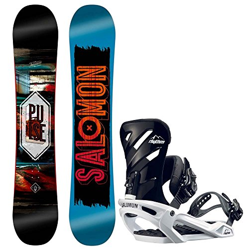 Herren Snowboard Set Salomon Pulse 158W + Rhythm 2017 Snowboard Set