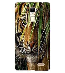 ColourCraft Tiger Look Design Back Case Cover for OPPO R7