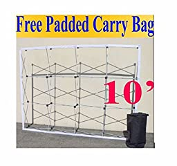 10\' Pop-Up Tension Fabric Trade Show Display Booth Frame Stand Pop up Free Case