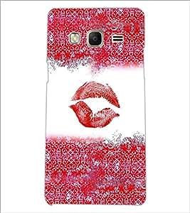 PrintDhaba Lips Impression D-4037 Back Case Cover for SAMSUNG Z3 (Multi-Coloured)