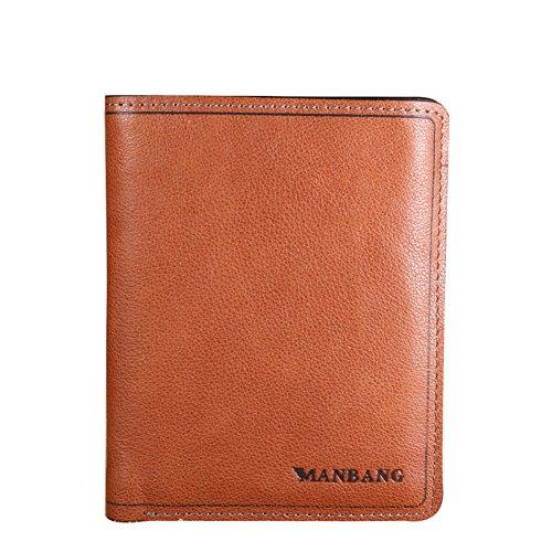 Portafogli degli uomini/Leather giacche in pelle breve authentic-uomo/Fermasoldi/Kabaw/Il primo strato di portafoglio retrò in pelle per i giovani-A