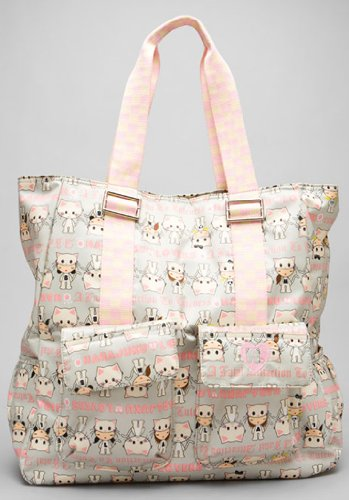 Harajuku Lovers Meow Madness UH-O Shoulder Tote Bag 8302HL Cute Cat