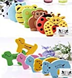 BFlowerYan Door Stop Finger Pinch Guard , Mixed Color [4pc-pack] (4xanimal)