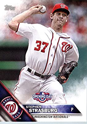 2016 Topps Opening Day #OD-194 Stephen Strasburg Washington Nationals Baseball Card-MINT