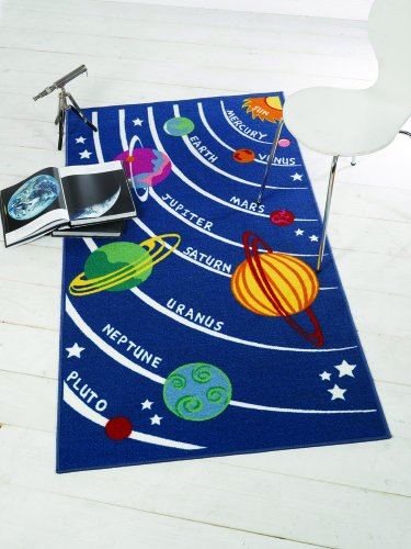 Outer Space Bedroom Rug - Planets and our Solar System