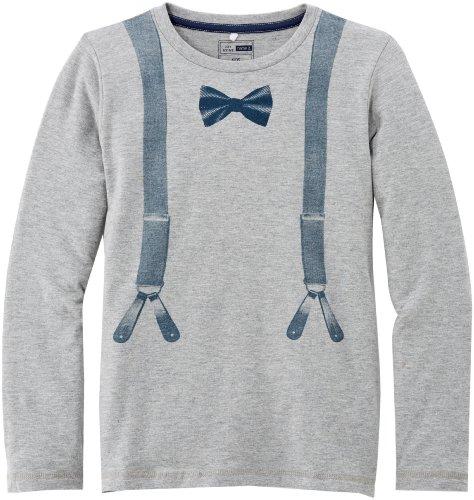 Name it - Pollon Kids Ls Top Box 613, T-shirt da bambini e ragazzi, grigio(grey - gris (grey mélange)), taglia produttore: 13 anni