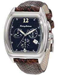 Tommy Bahama Swiss Men's TB1207 Silver Palms Black Dial Barrel Swiss Analog Chronograph Watch