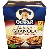 Quaker Natural Granola Oats, Honey, And Raisins 56 Ounce Value Box