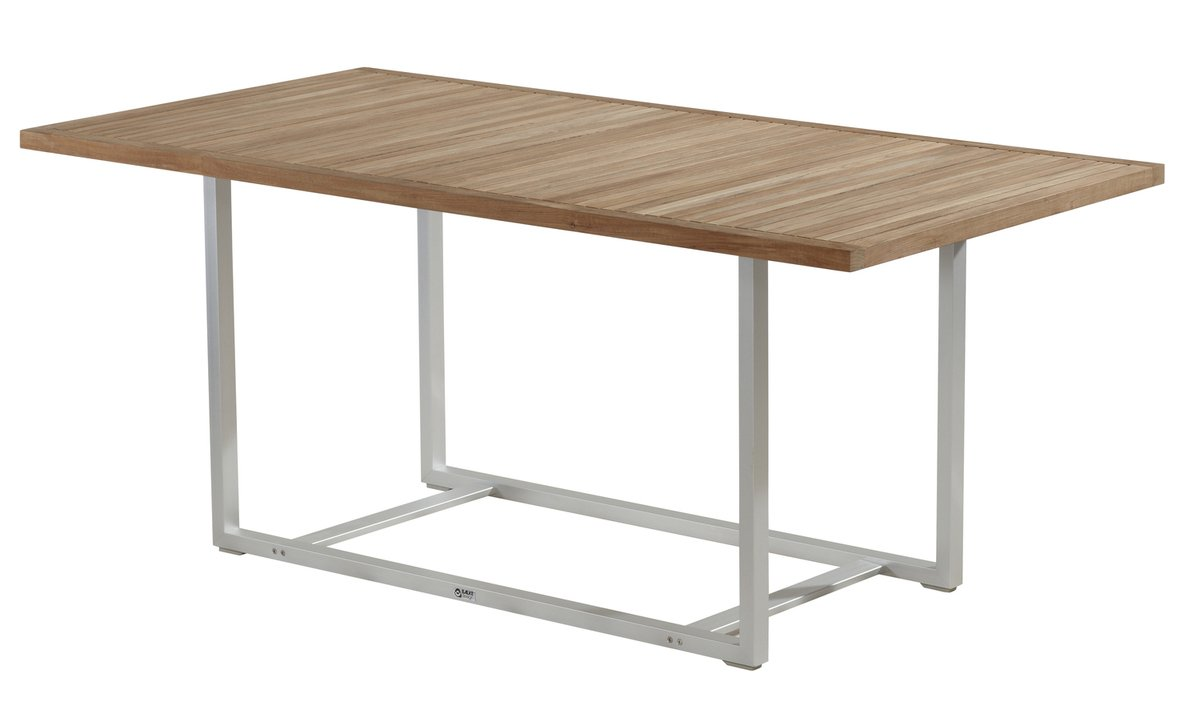 BALKE Tisch Venezuela, 180 x 90 cm, Aluminium und Teak günstig online kaufen