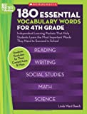 img - for 180 Essential Vocabulary Words for 4th Grade: Independent Learning Packets That Help Students Learn the Most Important Words They Need to Succeed in School (Best Practices in Action) book / textbook / text book