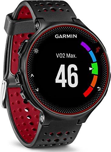 Garmin-Forerunner-235-Schwarz-und-Marsala-Rot-GPS-Laufuhr-mit-Herzfrequenzmessung-am-Handgelenk-010-03717-71