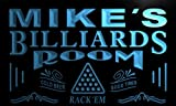 Pj105-b Mike's Billiards Room Rack 'em Bar Beer Neon Light Sign