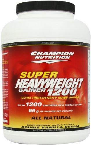 Champion Nutrition Super Heavyweight Gainer 1200 Ultra High-Density Mass Gainer, Double Vanilla Cream, 6.6 Pound