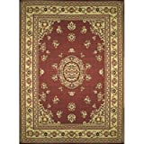Mad Mats Floral Indoor/Outdoor Floor Mat, 6 by 9-Feet, Red