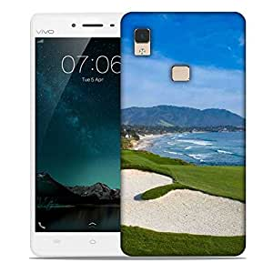 Snoogg Patches In 6lf Park Designer Protective Phone Back Case Cover For Vivo V3 Max