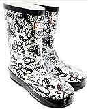 [ポーターポーター]PorterPoter レインブーツ レインシューズ 雨靴 長靴 梅雨 雨具 バタフライブラック 36 (23.0cm)