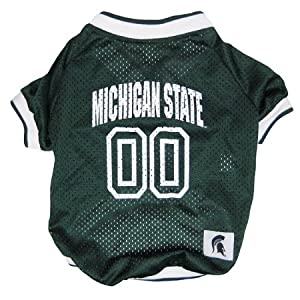 NCAA Dog Clothing - Michigan State Spartans Jersey XS by Pets First