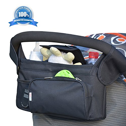 Universal Stroller Organizer Bag by BabyKidz® ★ #1 Premium Quality, Smart Storage Solution ★ - 1