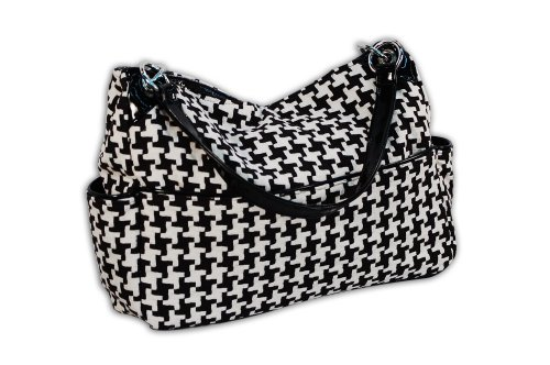 Caught Ya Lookin' Chic Diaper Bag, Houndstooth