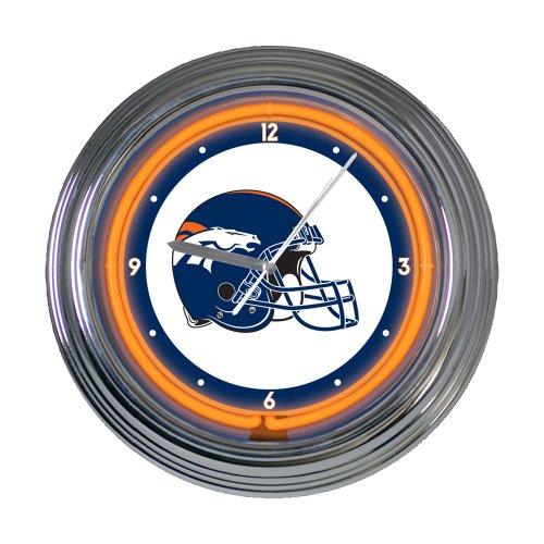 Denver Broncos 15 inch Neon Clock