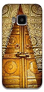The Racoon Lean printed designer hard back mobile phone case cover for HTC One M9. (Khana Kaba)