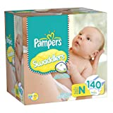 Pampers Swaddlers Diapers Size 0 Giant Pack 140 Count