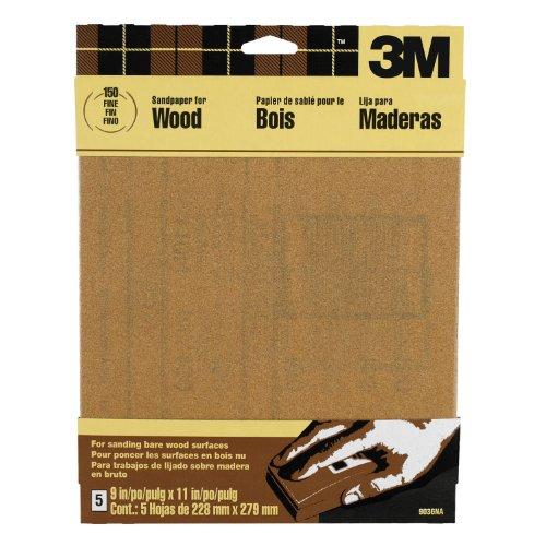 3M Garnet Sandpaper, Fine Grit, 9-Inch by 11-Inch, 5-Sheet