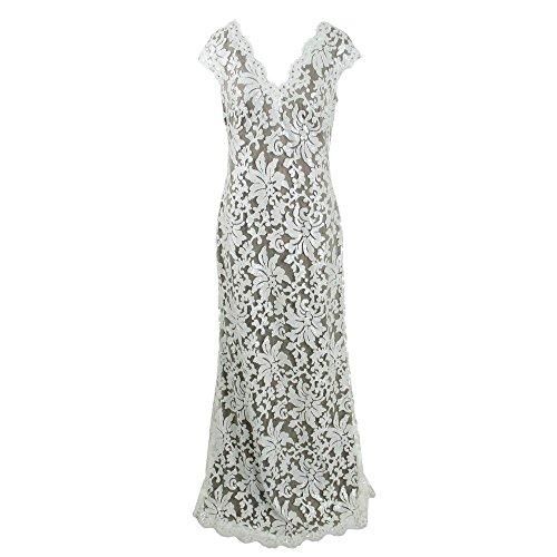 8fdb11d8 Tadashi Shoji Womens Embroidered Prom Formal Dress Gray 12