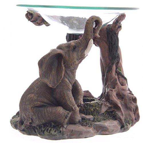 statuettedeco - Brule parfum figurine éléphants effet réaliste