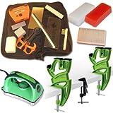 RaceWax Ekit Deluxe Ski Tuning Kit + Vise + Iron + Nylon Brush + 300 g Wax by RaceWax