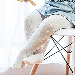 Fashion Baby Child Girls Toddler Cotton Mesh Net Pattern Tights 1pair of White L