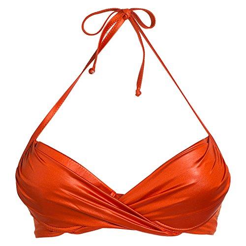 Blugirl Regg.Imbottito Incrociato, Bikini Top Donna, Corallo, 44