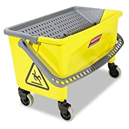 Rubbermaid Commercial Products FGQ90088YEL HYGEN Press Wring Bucket for Microfiber Mops (Yellow)