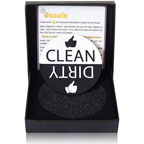 De Dazzle Dishwasher Magnet with Big Clean and Dirty Signs for Easy Visibility and Indication. Works on Metallic & Non-Metallic Dishwashers. Perfect Kitchen Gadget for Home and Gifting. (Dishwasher Clean Dirty Sticker compare prices)