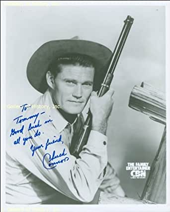 Chuck Connors Inscribed Photograph Signed At Amazon S