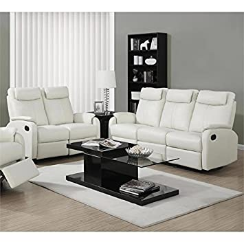 Monarch 2 Piece Reclining Rocker Sofa Set in Ivory