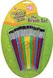 Kids Fun Brush Set 24 PC Use for All Paints Ages 6 to Adult