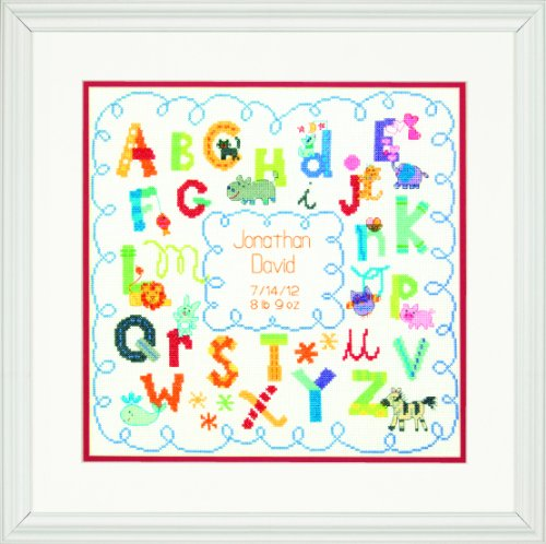 Dimensions Needlecrafts Counted Cross Stitch, Alphabet Birth Record front-1075786