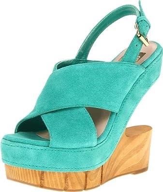DV8 Women's Haylo Wedge Sandal,Teal Suede,9 M US