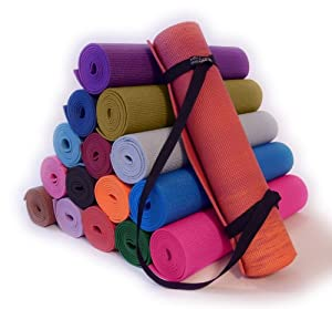 Buy Bean Yoga Deluxe Yoga Mat + Mat Sling Kit, Extra Long and Thick Nontoxic Yoga Pilates Mat and Simple Looped Carry Sling by Bean Products
