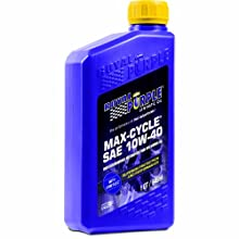 Royal Purple 01315 Max Cycle 10W-40 High Performance Synthetic Motorcycle Oil - 1 Quart Bottle