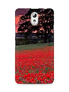 Amez designer printed 3d premium high quality back case cover for Lenovo Vibe P1M (Red Flowers)