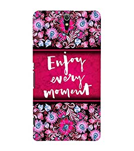 Enjoy Every Moment 3D Hard Polycarbonate Designer Back Case Cover for Sony Xperia C5 Ultra Dual :: Sony Xperia C5 E5553 E5506 :: Sony Xperia C5 Ultra